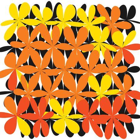 Whimsical Floral Background Vector illustration. Illustration