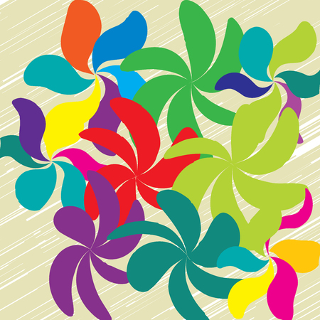 Whimsical Floral Background Vector illustration. Illustration