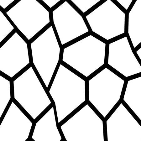 Black and white irregular grid. Illustration
