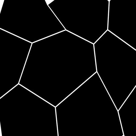 Black and White Irregular Grid, Modular Structure Mesh Pattern.