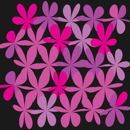 Floral pattern in black illustration. Illustration