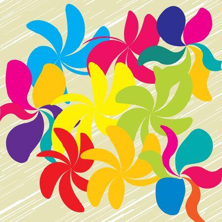 Floral pattern in beige illustration. Illustration