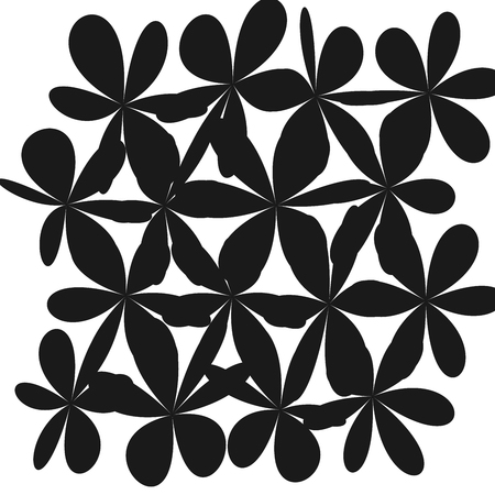 Whimsical Floral  Background, Flower Black and White, Exquisite Gentle Floral Graphic Ornament, Minimalistic Fashion Ornament, Flower bw