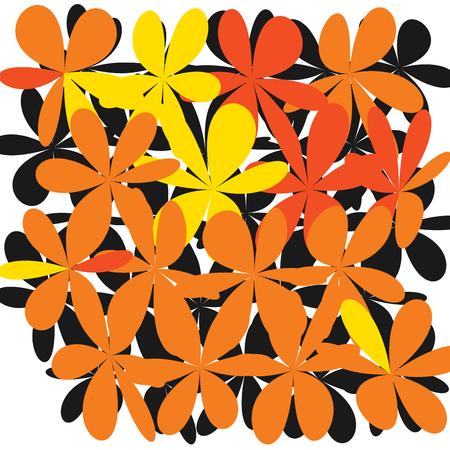 Floral pattern in white illustration.