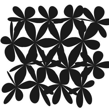 Floral pattern in white illustration.