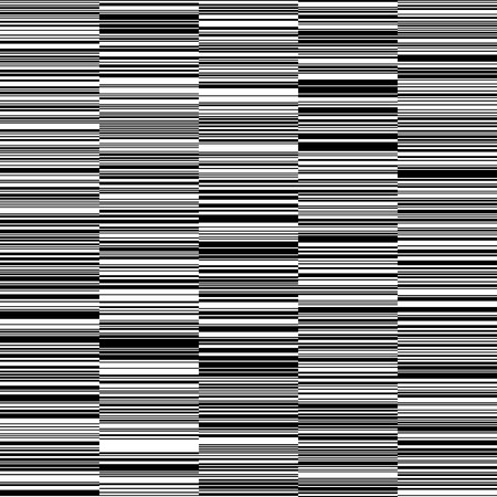Black and White Straight Horizontal Variable Width Line Stripes Pattern background. Иллюстрация