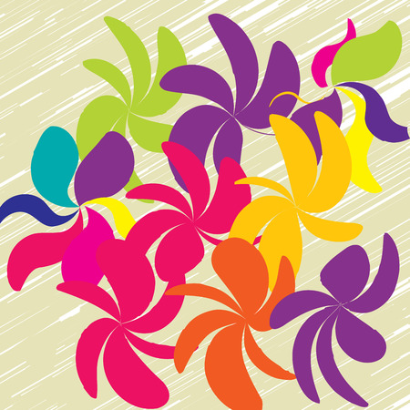 Colorful flowers icon.