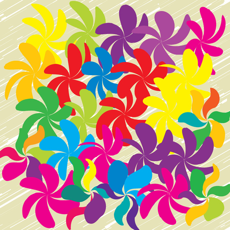 Vector Flower Background Ornament, Minimalistic Fashion Ornament, Pattern with Beautiful Flowers