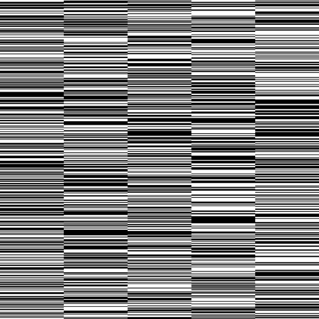 Black and White Straight Horizontal Variable Width Stripes, Monochrome Lines Pattern, Horizontal Seamless, Straight Parallel Horizontal Lines, Fashion Geometric Monochrome Random Background Фото со стока - 92346666