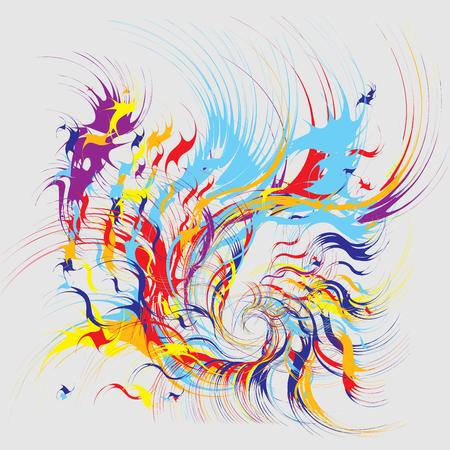 Paint Splatters Fashion Abstract Art vector illustration