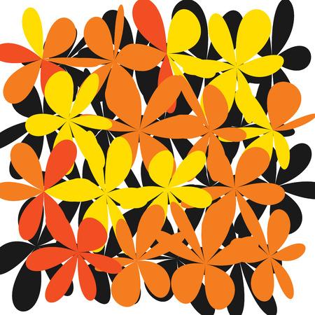 Grunge Daisy Flower Abstract pattern design. Illustration