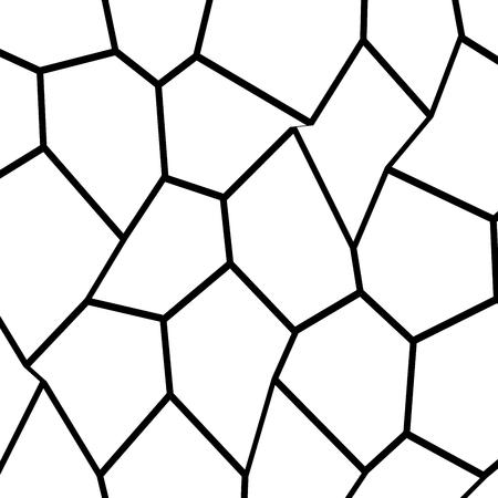 Black and White Irregular Grid, Modular Structure Mesh Pattern Illustration