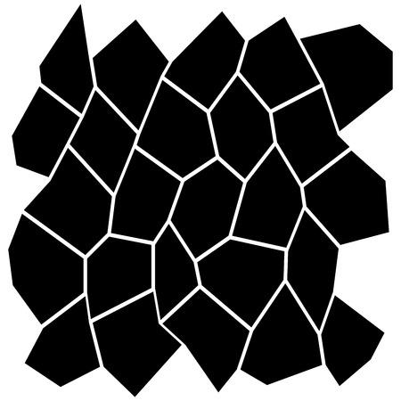 Black and White Irregular Grid pattern design.