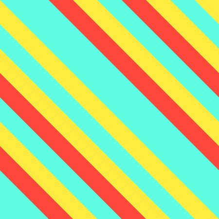 Seamless pattern in Memphis neon colors. Straight diagonal thin line abstract background. Striped geometric ornament, vector parallel slanting, oblique lines texture.