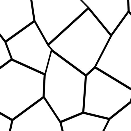 Black and White Irregular Grid, Modular Structure Mesh Pattern, Abstract Monochrome Geometric Polygon Texture, Photo Mosaic Template,  Photo Collage Background