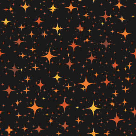 Star Seamless Pattern, Chaotic Elements, Abstract Geometric Shape Texture, Effect of Sky, Design Template for Wallpaper,Wrapping, Textile, Star Sky Seamless Pattern