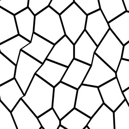 Black and White Irregular Grid Illustration