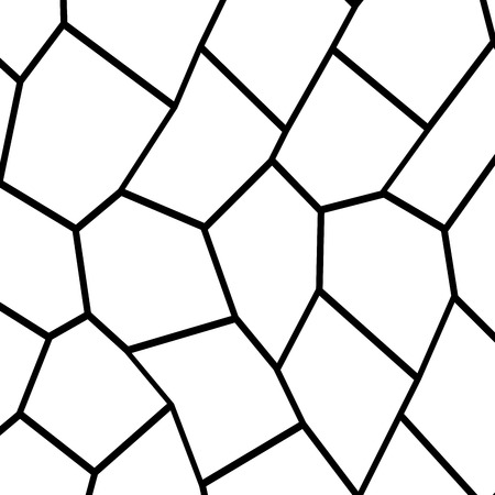 Black and white irregular grid, modular structure mesh pattern, abstract geometric polygon texture, photo mosaic template, photo collage background.