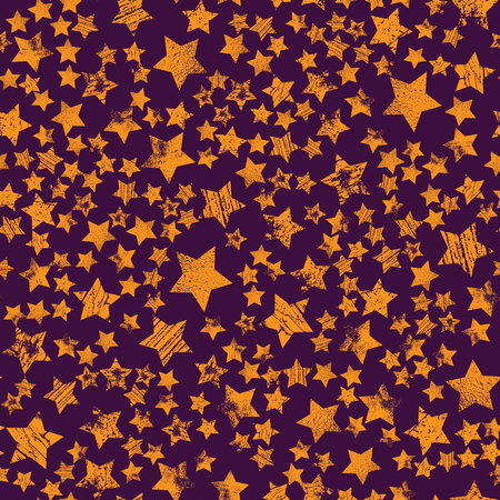 Stars seamless pattern, chaotic elements, abstract geometric shape texture, effect of sky, design template for wallpaper, wrapping, textile, star sky seamless pattern.