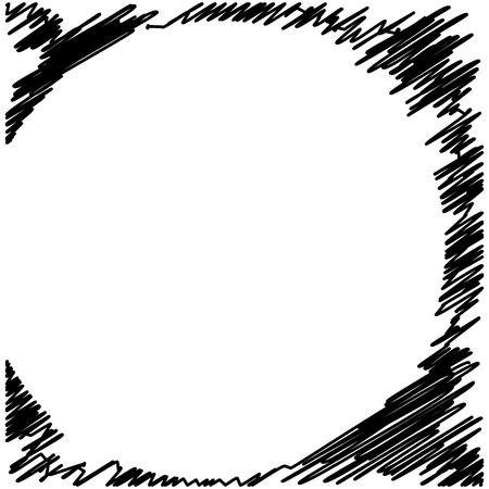 Circle Hatching Grunge Graphite Pencil Background on White Background, Design Element, Lines Hatching Grunge Graphite Pencil Background and Texture Isolated on White Background Illustration