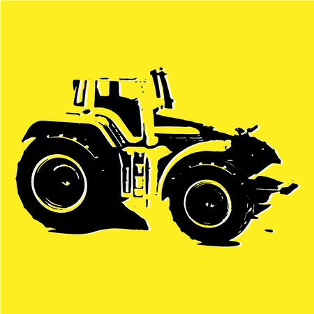 Sketch of Tractor, Tractor Logo Illustration, Emblem Design, Farm Tractor Sketch