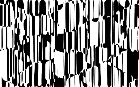 Lignes chaotiques aléatoires, motif géométrique abstrait Texture, moderne, illustration de l'art contemporain avec des lignes rayées blanches noires, ondulé, effet de déformation incurvé, flexion, lignes gondolées Banque d'images - 94903065