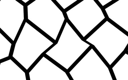 Black and White Irregular Grid, Modular Structure Mesh Pattern, Abstract Monochrome Geometric Polygon Texture, Photo Mosaic Template
