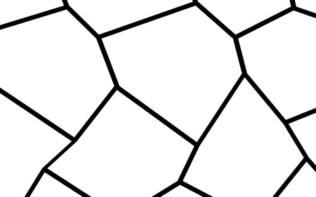 Black and White Irregular Grid, Modular Structure Mesh Pattern, Abstract Monochrome Geometric Polygon Texture, Photo Mosaic Template,  Photo Collage Background Banco de Imagens - 100308775