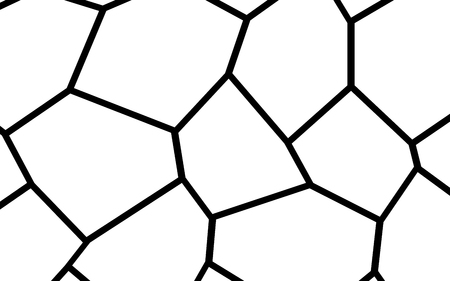 Black and White Irregular Grid, Modular Structure Mesh Pattern background.