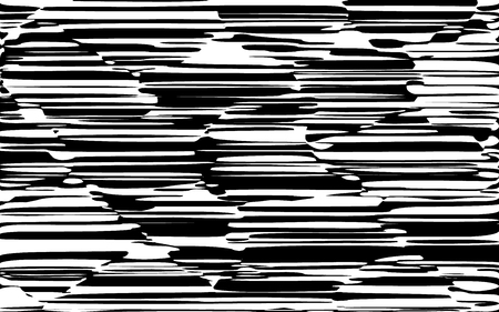 Random Chaotic Lines Abstract Geometric Pattern  Texture, Modern, Contemporary Art Illustration with Black White Striped Lines, Wavy, Curving Distortion Effect, Bending, Warped Lines Banque d'images - 101851399
