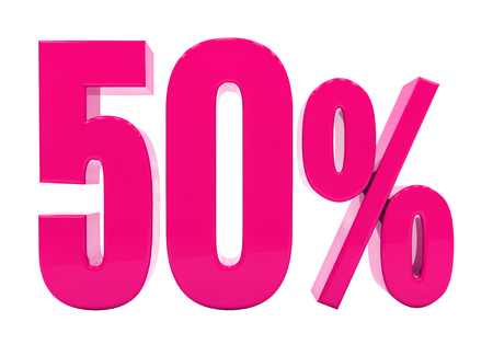 3d Illustration Pink 50 Percent Discount Sign, Sale Up to 50, 50 Sale, Pink Percentages Special Offer, Save On 50 Icon, 50 Off Tag, Pink 50 Percentage Sign, Percentage 3d, Black Friday  Percentage