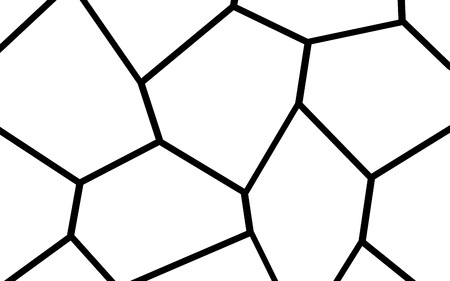 Black and White Irregular Grid, Modular Structure Mesh Pattern, Abstract Monochrome Geometric Polygon Texture, Photo Mosaic Template,  Photo Collage Background Banco de Imagens - 103921385