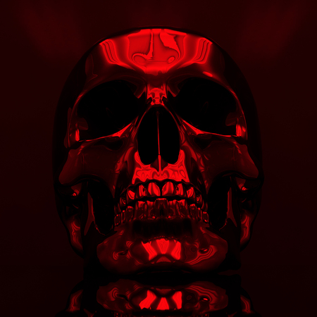 Abstract Bright Illustration of Skull, Skull Image in Artistic Technique with Vibrant Colors, Skull Art, Day of The Dead Skull, Mexican,  November 2 Stock Photo
