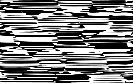 Random Chaotic Lines Abstract Geometric Pattern  Texture, Modern, Contemporary Art Illustration with Black White Striped Lines, Wavy, Curving Distortion Effect, Bending, Warped Lines Banque d'images - 104140741