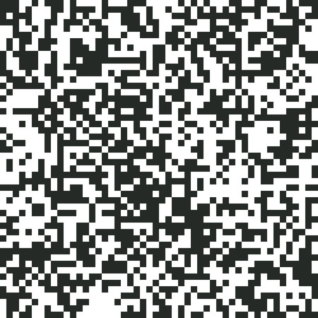 Digital Abstract Black and White Pixel Noise Background, QR Code Abstract Background, Vector Seamless Pattern, Random Pixel Texture, Black-and-White Background, Monochrome QR Code Design, Vector EPS10