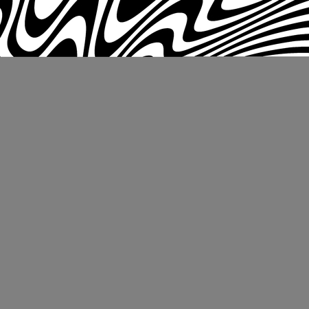 Curve Random Chaotic Lines Abstract Geometric Pattern Texture, Modern, Contemporary Art Illustration with Black White Striped Lines, Wavy, Curving Distortion Effect, Bending, Warped Lines Banque d'images - 106819708