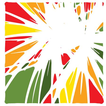 Lineare Handzeichnung gekrümmte Lichtstrahlen, Sunburst und Sonnenstrahlen, Farbtintenflecken, Sprachwolken, Comic-Sprechblase, Cartoon, Verkaufsflecken, Spritzetiketten Vektorgrafik