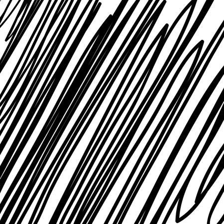 Fondo de garabato grunge negro dibujado a mano, textura de tramado diagonal de lápiz, tramado con un lápiz, trazos paralelos de lápiz de plomo tramado, trazos grunge dibujados a mano, trazos de pincel, línea de marcador Ilustración de vector