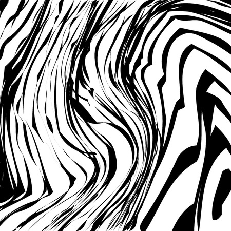 Abstract Vector Background of Waves, Line Stripes Irregular Wave Background, Abstract Minimal Design, Stylized Flowing Water 3d Illusion, Graphic Line Art Vector Illustration