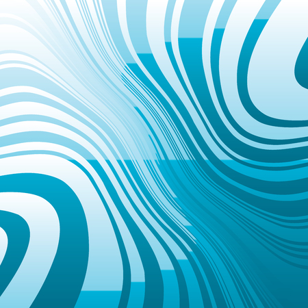 Sea Curve Random Chaotic Lines Abstract Geometric Pattern Texture, Modern, Contemporary Art Illustration with Blue Striped Lines, Wavy, Curving Distortion Effect, Bending, Warped Lines