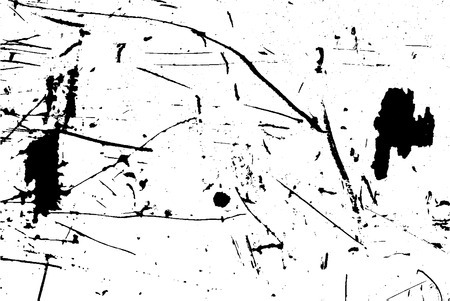 Grunge Urban Vector Texture Template, Dark Messy Dust Overlay Distress Background, Abstract Dotted, Scratched, Vintage Effect with Noise and Grain Vettoriali