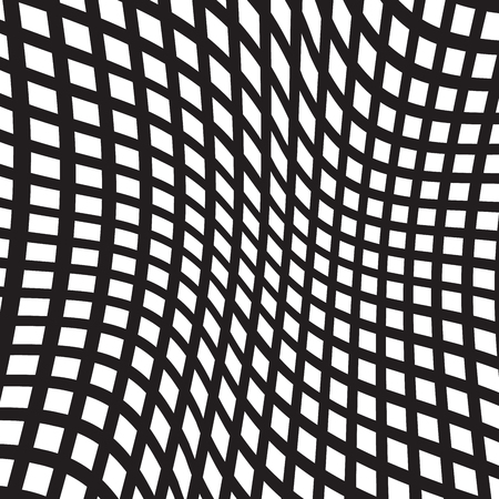 Black and White Irregular Grid, Modular Structure Mesh Pattern, Abstract Monochrome Geometric Polygon Texture