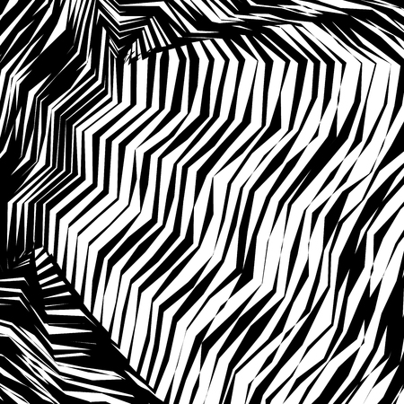 Abstract Vector Background of Waves, Line Stripes Irregular Wave Background, Abstract Minimal Design, Stylized Flowing Water 3d Illusion, Graphic Line Art