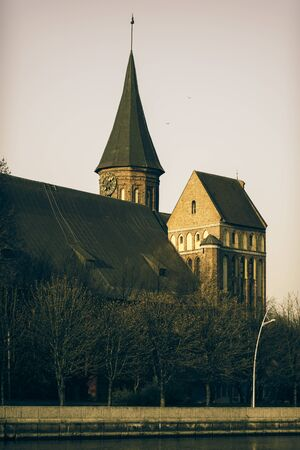 Cathedral of Koenigsberg on the Kneiphof Island, Kaliningrad, It Is The Most Significant Preserved Building of the Former City of Königsberg, Which Was Largely Destroyed in World War II Stock fotó
