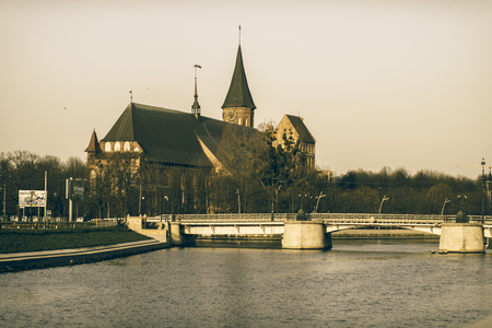 Cathedral of Koenigsberg on the Kneiphof Island, Kaliningrad, It Is The Most Significant Preserved Building of the Former City of Königsberg, Which Was Largely Destroyed in World War II Sajtókép