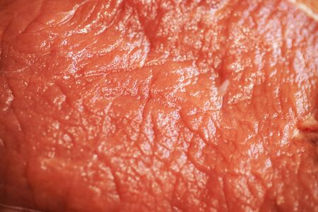 Fresh Raw Food Beef Meat Steak Texture, Beef Fillet Steaks on Cutting Board, Crude Meat Texture