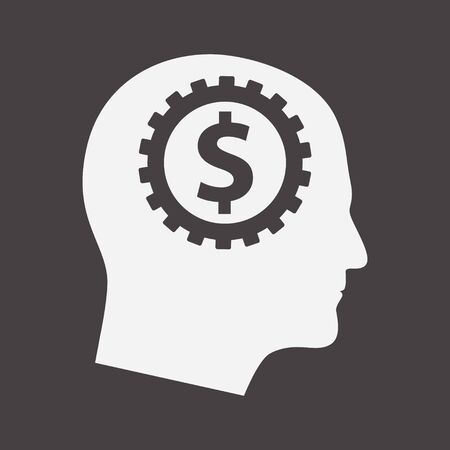 Connected Gears and Money Sigh, Cryptocurrency Money Making and Profit, Investment Logo, Greedy Man, Finance on Digital Stock Market Financial Exchange Template, Greed Icon 向量圖像