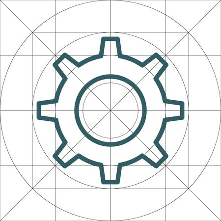 Single Gear Simple Vector Icon, Cog Wheel Pictogram, Settings Symbol, Engine Gear Wheels, Production or Efficiency Sign, Cogwheel Ggear Mechanism Illustration