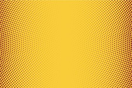 Fondo de semitono degradado vertical, plantilla de arte pop, patrón de vector de textura de onda superpuesta de círculos, efecto de angustia de grunge de lunares caóticos, ilustración de estilo de puntillismo manchado