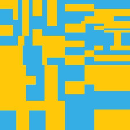 Pixel Background Abstract Geometric Brick Vector Art
